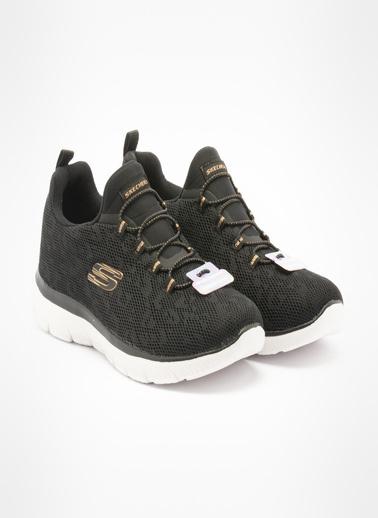 Skechers Summits - Leopard Spot Kadın Sneaker Siyah